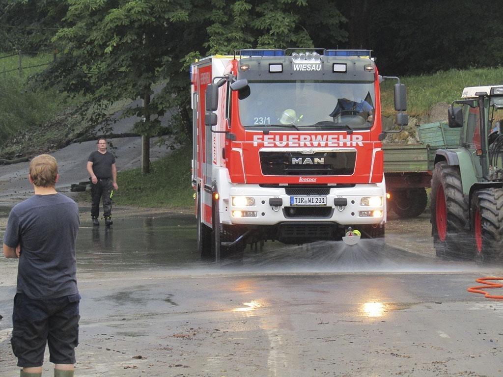 Grundstück überschwemmt