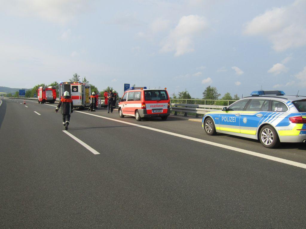 Verkehrsunfall mit Motorrad